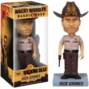 The Walking Dead RICK GRIMES Figure Bobble Head 17cm Original FUNKO Wacky Wobbler