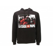 LA CASA DE PAPEL Hooded Sweatshirt 4 ARMED with RED Suit and DALI MASK Original OFFICIAL