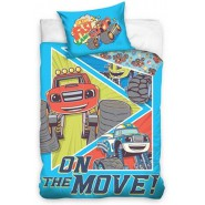 BABY BED SET Cotton Duvet Cover BLAZE And TThe Monster Machines On The Move 100x135cm ORIGINAL