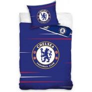 Single BED SET Cotton Duvet Cover RCHELSEA FC BLU Blues Logo 140x200cm