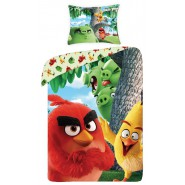 Bed Set ANGRY BIRDS Model PALM TREE Red Pigs DUVET COVER 140x200 Cotton ORIGINAL