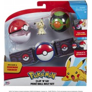 POKEMON Clip 'n' Go Official BELT With 1 Figure MIMIKYU and 2 PokeBall ORIGINAL Official
