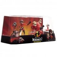 BOX 5 FIGURES 7cm Family Pack INCREDIBLES 2 Original JAKKS PACIFIC Disney