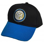 Summer CAP Hat KID SIZE Black with BLUE FRONTAL Original INTER Official
