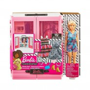 BARBIE FASHIONISTAS Special CLOSET Guardrobe with CLOTHES etc. MATTEL GBK12