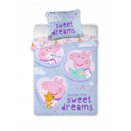 BABY BED SET Cotton Duvet Cover PEPPA PIG RECIPE for Sweet Dreams 100x135cm ORIGINAL