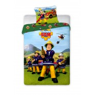 FIREMAN SAM Fire Squad Cotton BED Set DUVET COVER 140x200cm Original MARVEL Faro