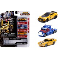 TRANSFORMERS Set 3 Different Mini Models CAR 4cm Bumblebee CHEVY and Optimus Prime 5700XE NANO Hollywood Rides DIE CAST Jada