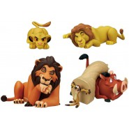 LION KING Set 5 FIGURES Simba Scar Mufasa Timon Pumbaa DISNEY TOMY Gashapon