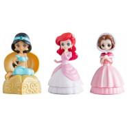 DISNEY PRINCESS Set 3 FIGURES Ariel Belle Jasmine CAPCHARA Heroine Doll BANDAI Gashapon