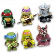 TEENAGE MUTANT NINJA TURTLES 4cm Set 6 Figures Shredder Splinter TMNT NICKELODEON Gashapon Serie 1