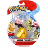 POKEMON Box 3 FIGURES Psyduck + Mimikyu + Stufful Original WCT Battle Figure Set