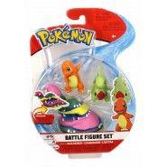 POKEMON Box 3 FIGURES Charmander + Larvitar + Alolan Muk Original WCT Battle Figure Set