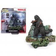 Diorama GODZILLA Ground Assault With Jeep 6cm Scale 1/64 Original  Johnny Lightnining