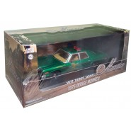 Model DieCast DODGE MONACO 1975 12cm 1/43 Chase Version Green Color Sheriff Hazzard Original GREENLIGHT