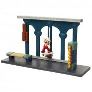 Playset Deluxe LAVA CASTLE With Figure of SUPER MARIO Fire and 4 Interactive Pieces Jakks Pacific