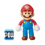 FIGURE Super Mario 10cm With Pow Block Power Up SUPER MARIO Bros