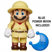 Figure SUPER MARIO Explorer 10cm With Blue Moon Power Up From Videogame SUPER MARIO