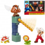 Diorama LAVA CASTLE With Figure of SUPER MARIO Fire and 3 other Figures Jakks Pacific