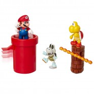 Diorama DUNGEON With Figure of SUPER MARIO and 2 other Figures Jakks Pacific
