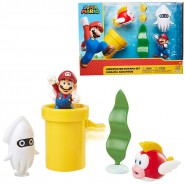 Diorama UNDERWATER With Figure of SUPER MARIO and 2 other and Accessories Figures Jakks Pacific