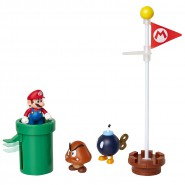 Diorama ACORN PLAINS With Figure of SUPER MARIO and 2 other and Accessories Figures Jakks Pacific