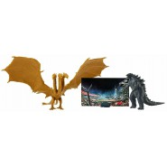 GODZILLA Vs KING GHIDORAH Action Figure 9cm With Backdrop and Images King Of Monster 65 Anniversary JAKKS PACIFIC