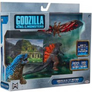GODZILLA Vs MOTHRA Action Figure 9cm With Backdrop and Images King Of Monster 65 Anniversary JAKKS PACIFIC