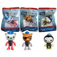 OCTONAUTS Complete SET 3 Mini FIGURES Bernacles Kwazii Peso 6cm ORIGINAL Also for CAKES TOPPERS