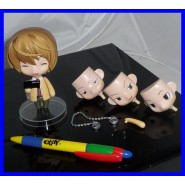 DEATH NOTE Figure YAGAMI LIGHT 10cm With Faces and Accessories