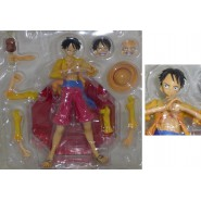 ONE PIECE Figure Statue Monkey D Luffy Rufy Yellow Jacket 23cm Many Accessories