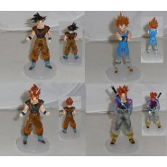SET 4 Figures DRAGONBALL Z 11cm GOKU TRUNKS MAJINVEGETA Statues