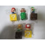 SET 5 Figures SUPERMARIO 5cm Mario Luigi Toad Goomba Koopa Cake Topper