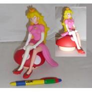 Figure Statue Principess Peach 20cm Sitting on Mushroom From Supermario
