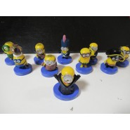 SET 10 Figures BLUE Stand 5cm Characters Animated Cartoon Minions