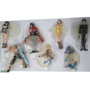 FINAL FANTASY VII Advent Children Set 7 Figures 10cm Tifa Selphie Vincent