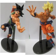 DRAGONBALL Pair 2 Rare Figures Statues 20cm BARDACK and SON GOKOU Super Sayian
