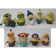 SET 9 Figures 5cm Characters Animated Cartoon Minions Girl Agnes Unicorn