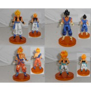 SET 4 Figures DRAGONBALL 12cm GOKU VEGETO VEGITTO Gotenks Super Sayian Light Orange Base