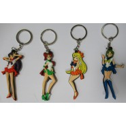 SAILOR MOON Set 4 FIGURES Keychain Soft 8cm Mercury Mars Jupiter Venus Salior