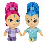 Couple SET of 2 Plushies SHIMMER AND SHINE 30cm Original NICKELODEON