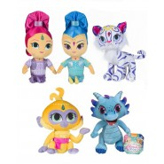 Complete SET 5 Plushies SHIMMER AND SHINE Tala Nahal Nazboo 30cm Original NICKELODEON