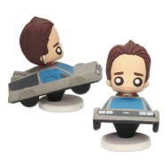 FIGURE MARTY McFly And DeLorean Car Time Machine 7cm BACK TO THE FUTURE Original Official POKIS