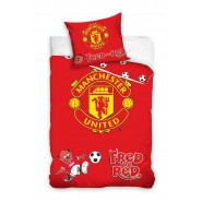 BABY BED SET Cotton Duvet Cover MANCHESTER UNITED Reds 100x135cm ORIGINAL