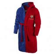 F.C. BARCELONA Barca Bathrobe Boy 14/16 Years 100% Cotton Replica Original With Official License