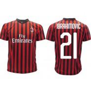 ZLATAN IBRAHIMOVIC Number 21 MILAN 2019/2020 T-Shirt Jersey Official IZ Back