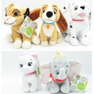 COMPLET SET 5 Plush Animal Friends 17cm Simba Marie Lady Dumbo Dalmatian DISNEY PTS