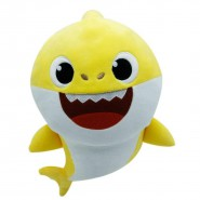 PLUSH Soft Toy 25cm BABY SHARK YELLOW With Music Of The Famous Song From Cartoon Original