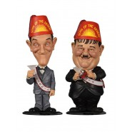 Box 2 Figures STAN LAUREL and OLIVER HARDY Mini Bobble Head Sons Of The Desert 8cm ORIGINAL Big Chief