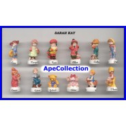 SARAH KEY Rare SET 10 Mini Figures PORCELAIN French Collection FEVES